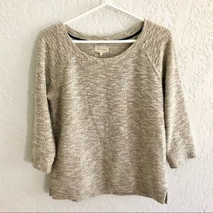 Anthro Lou & Grey Marled Cream Sweater S